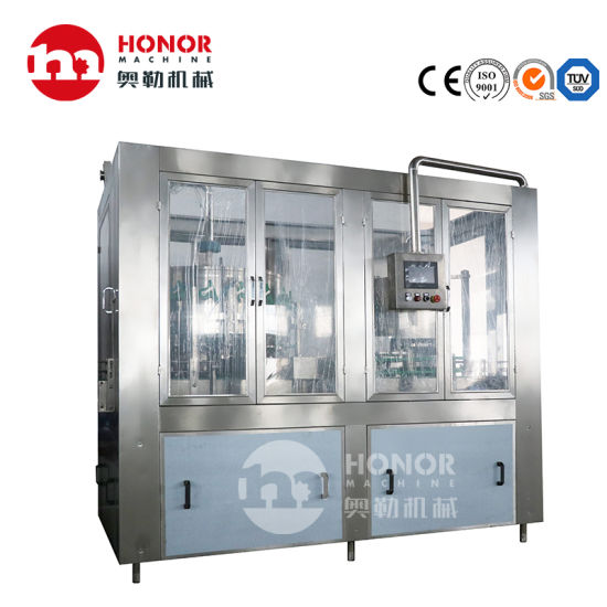 Automatic Aluminum Can/Tinplate Bottle 330ml/500ml/800ml/1000ml Drink Carbonated Soft Drink Juice Beer Drinking Water Filling Sealing Labeling Packaging Machine