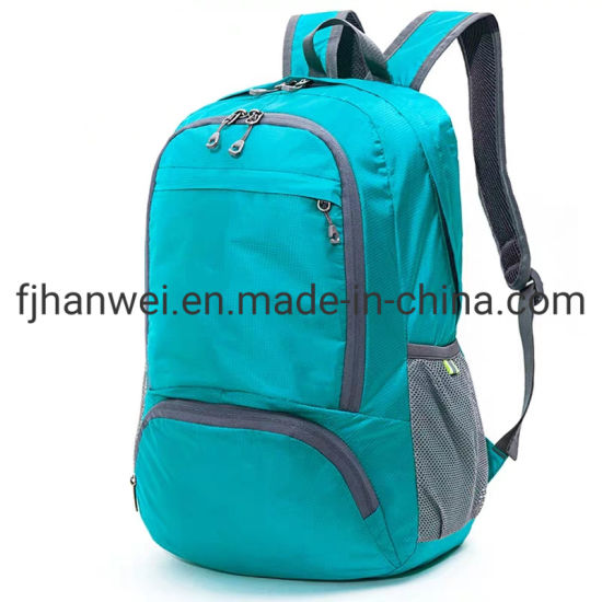 Folding Light Weight Nylon Outdoor Sport Causual Backpack