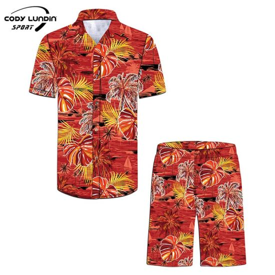 Cody Lundin New Arrival Casual Mens Shirts Custom Chinese Style Floral Print Beach Wear Shirt Men