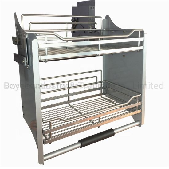 China Kitchen Cabinet Pull Up And Down Basket Utensil Cupboard Storage Wire Rack China Wire Rack Storage Rack