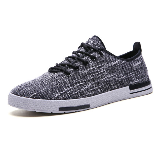 Men's Skateboard Linen Shoes Fashion Shoe for Party and Official