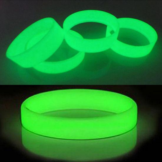 Men/Women Silicone Rubber Shine Bangles Wristbands Glow in The Dark