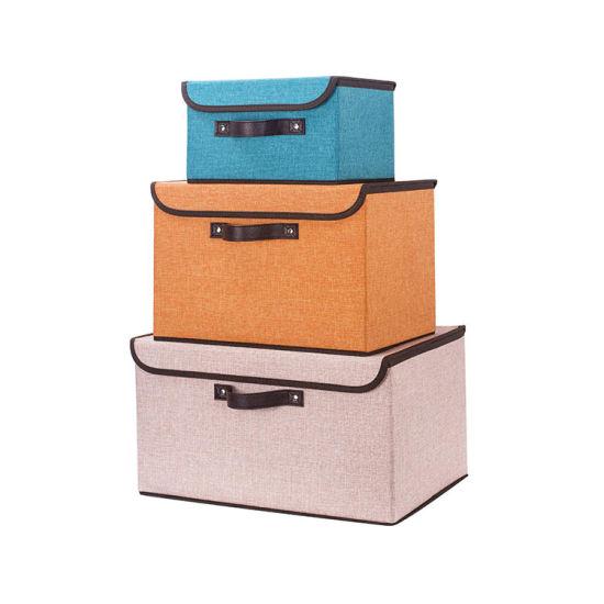 Fabric Storage Bins With Lid Organizer, Office Storage Bins