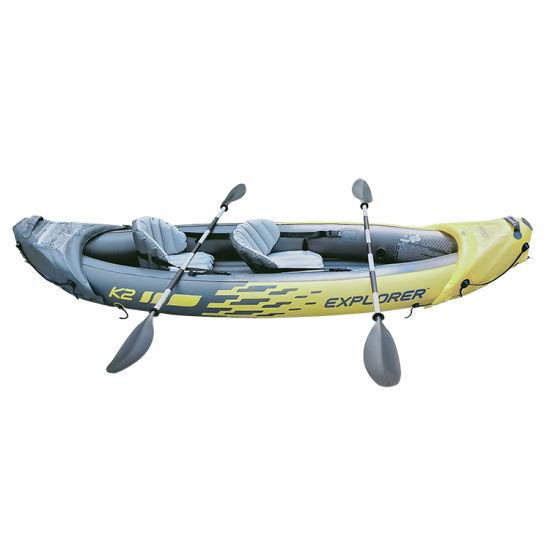 2021 Hot Sale Single/Tendam Kayak PVC Fishing Paddle Kayak Best Quality Sit on Top Ocean Kayak Wholesale for Fishing