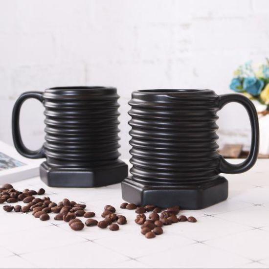 China Creative Novelty Screw Lines Ceramic Mug Breakfast Milk Coffee Screw  Shape Ceramic Cup - China Ceramic Cup and Coffee Cup price