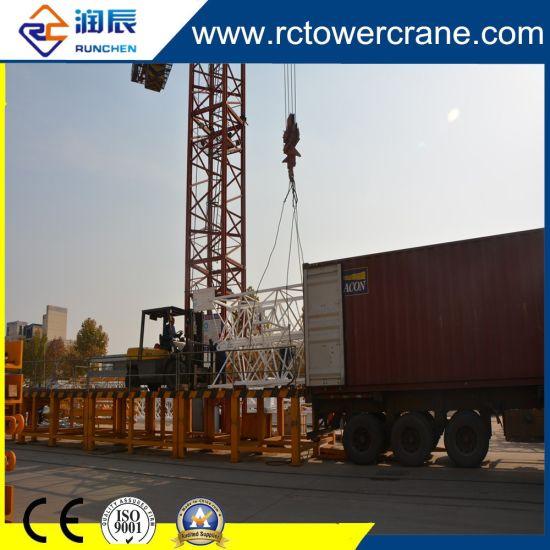 China Derrick Tower Crane Tc6025 Load10t Topkit Tower Cranes