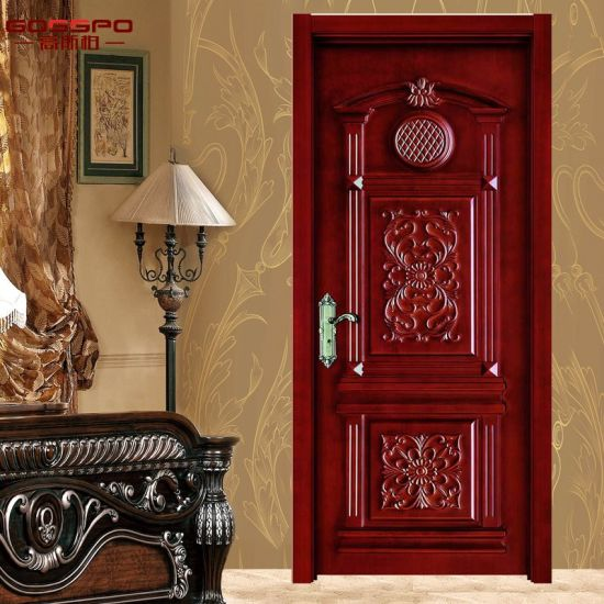 Luxury Carving Wooden Single Door Flower Designs GSP2 028