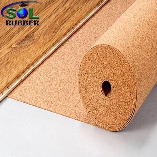 China Cork Flooring Sound Absorption Floor Acoustic Underlay China Rubber Floorig Rubber Floor