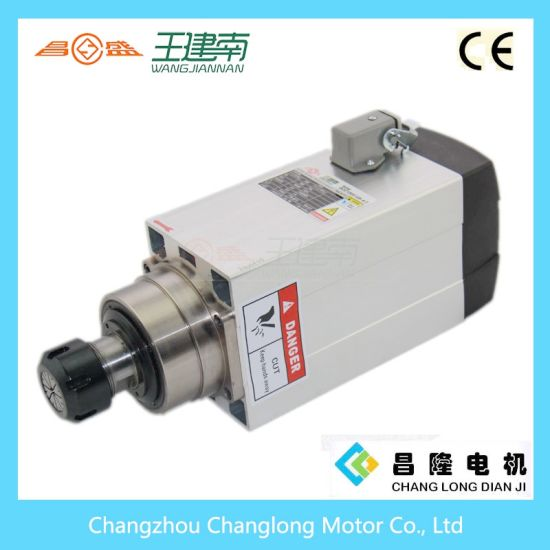 4.5kw High Speed Air Cooling Three Phase Asynchronous Spindle Motor pictures & photos