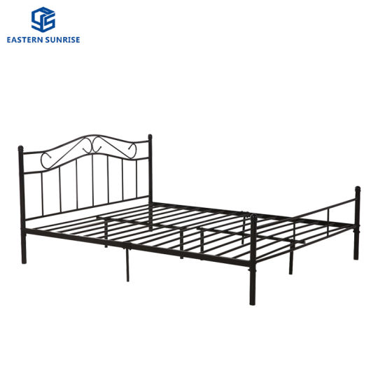 China Popular Metal Double Bed Queen Size Bed China Double Bed