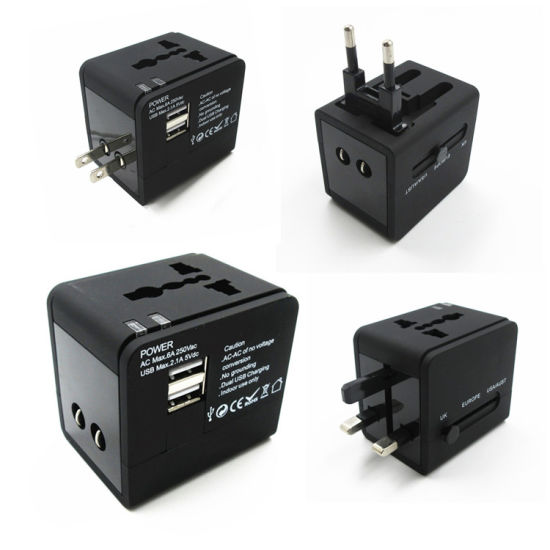 New Arrive International Universal Travel Adapter with 2 USB Charger