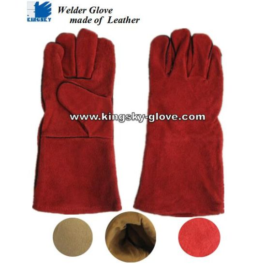 Standard Cow Split Leather Welding Glove (6504. RD)