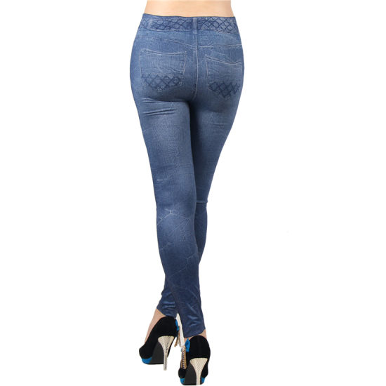 Hot Sale Women Sexy Many Patterns Denim Jean Stretchy Leggings pictures & photos