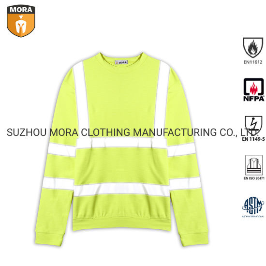 Fr Clothing Long Sleeve Hi Vis 3m Reflective Work Yellow Shirt pictures & photos