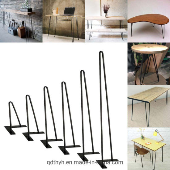 """Hairpin Coffee Table Leg 3//8/"""" Solid Steel DIY 2// 3 Rods Table Leg 8/'/'-34/'/' US"""