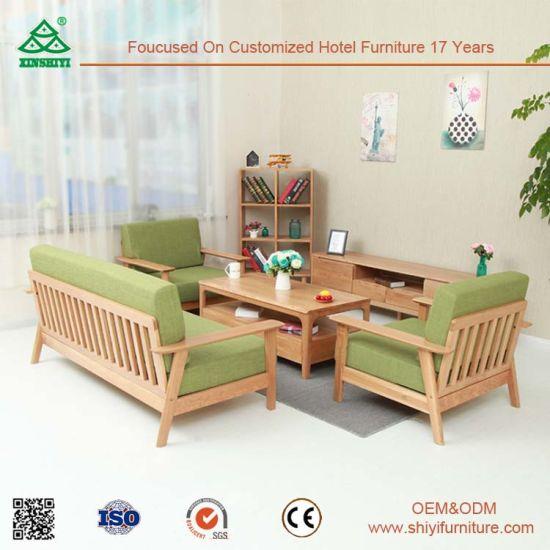 Furniture Living Room Sofa Set, Customized Wooden Classic Sofa, Wooden Sofa  Set Furniture