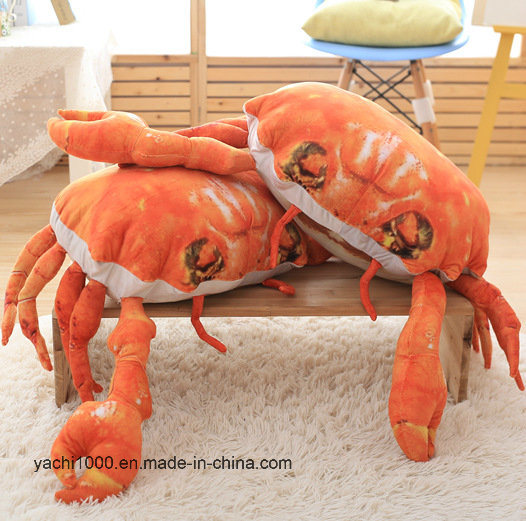 Custom Soft Pillow Stuffed Pillow Crab Plush Cushion Toy