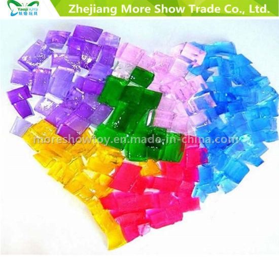 China Cube Shaped Crystal Soil Water Beads Wedding Decoration Vase