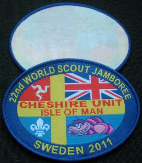 Oval Shape Merrowed Border Clothing Woven Badge