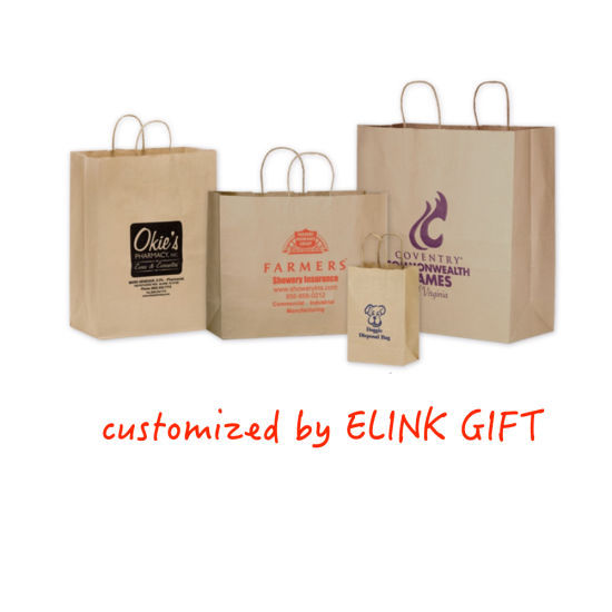 Cheap Price Kraft Paper Shopping Bag Hand Bag Tote Bag Customized Logo and Size