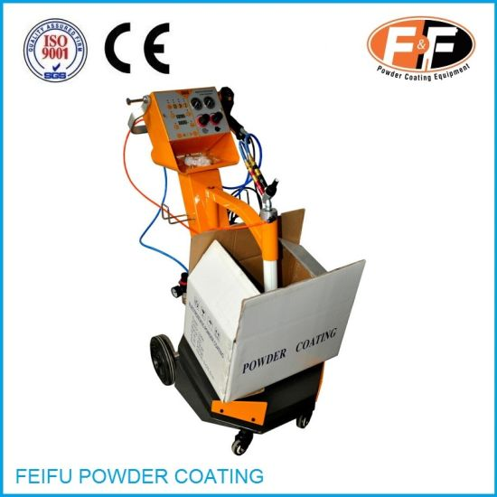 Manual Vibratory Box Feed Powder Coating Machine with Spray Gun pictures & photos
