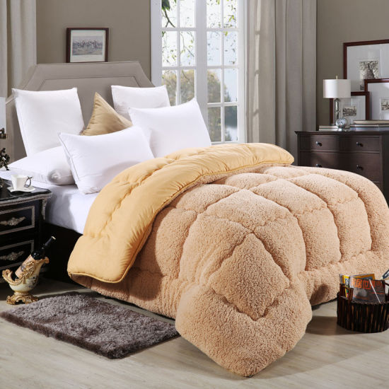 High Quality Warm and Thicking Berber Fleece Quilt for Winter