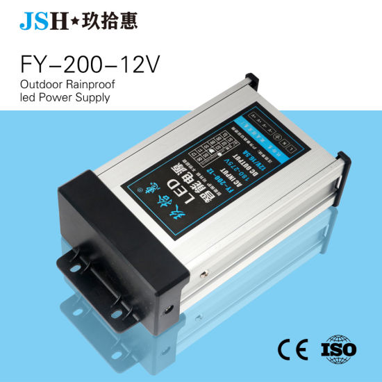 IP53 AC/DC Constant Voltage 200W 12V Rainproof LED Driver for Outdoors
