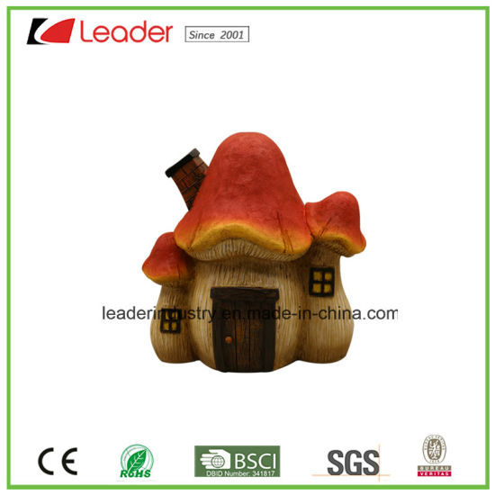 Polyresin Hot Selling Mushroom Toad House Statue Garden Decoration pictures & photos