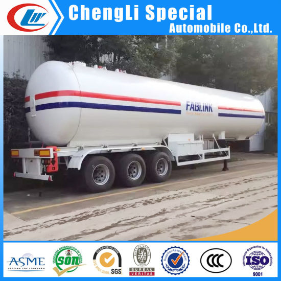 Q370r 12mm 59.52cbm Tri-Axle 25tons 30mt LPG Road Tanker Trailer pictures & photos