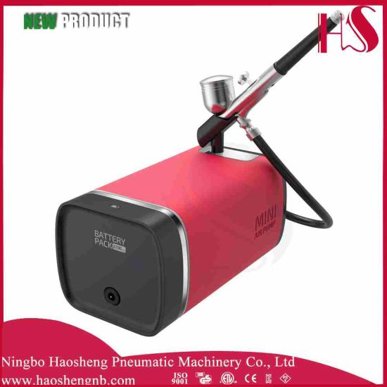 China HS-M100dk Airbrush Compressor Suit Airbrush Beauty Makeup