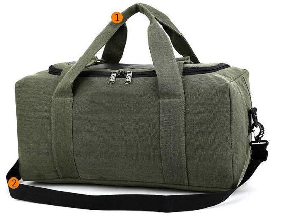 Heavy Duty Green Army Canvas Duffel Bag