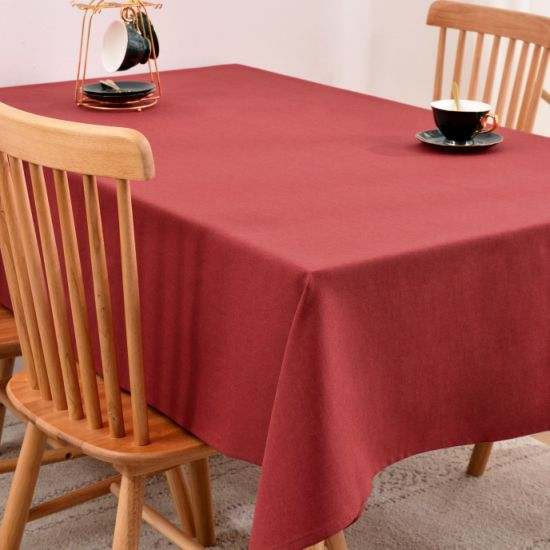 Wholesale Order Hotel Restaurant Banquet Party Polyester Plain Tablecloth
