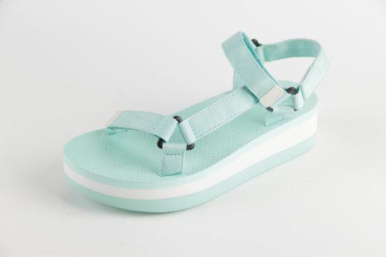 Fashion Fresh Color Women Strap Sandals Thick Bottom