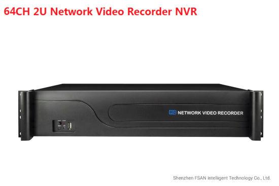 Fsan 64CH Full Real-Time HD Network Video Recorder Dual HDMI 4K 2u NVR