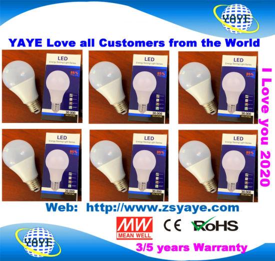 Yaye 18 Hot Sell E27/B22 Lithium Battery 110V/220V 5W 7W 9W 12W 15W 18W Energy Saving Lamp LED Intelligent Emergency Rechargeable Back up Smart Solar LED Bulb