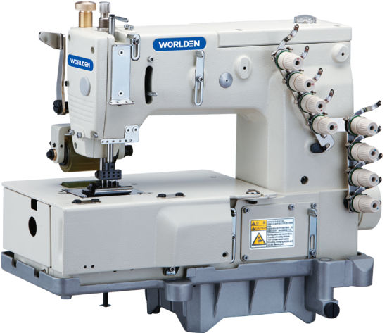 China Wd 1404p Four Needle Flat Bed Double Chain Stitch Sewing Machine China Sewing Machine Industrial Sewing Machine