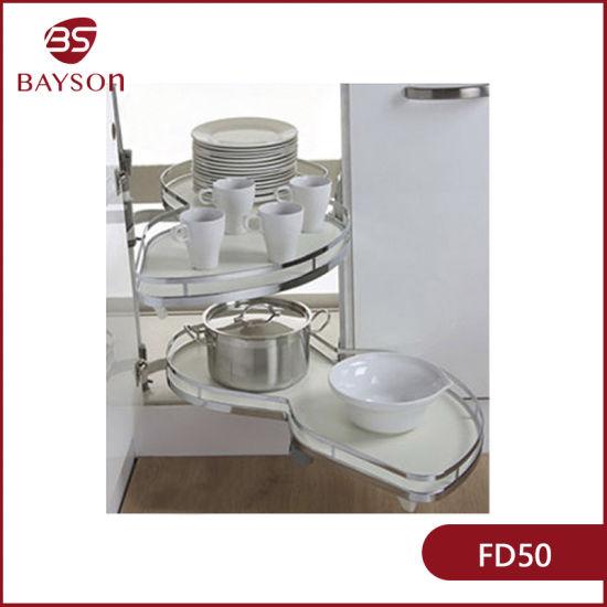 China Kitchen Accessories Cabinet Corner Organizer Pull Out Swing Tray Rack Fd50 China Magic Corner Tray And Corner Tray Price