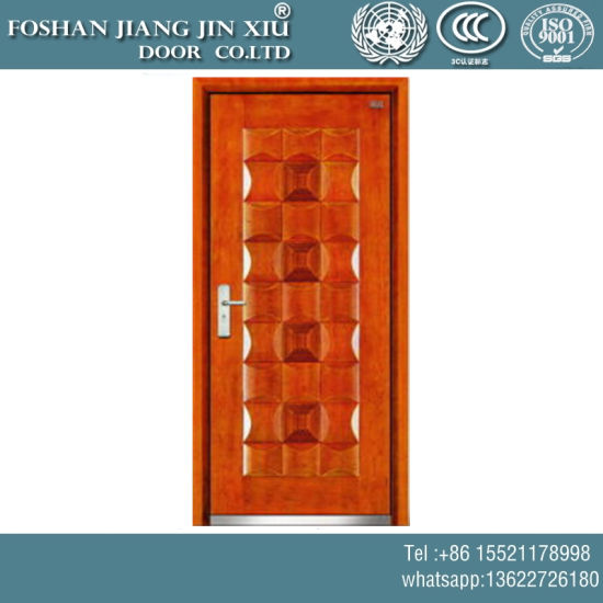China Cheap Price Plastic Yellow Wood Steel Flush Security Exterior