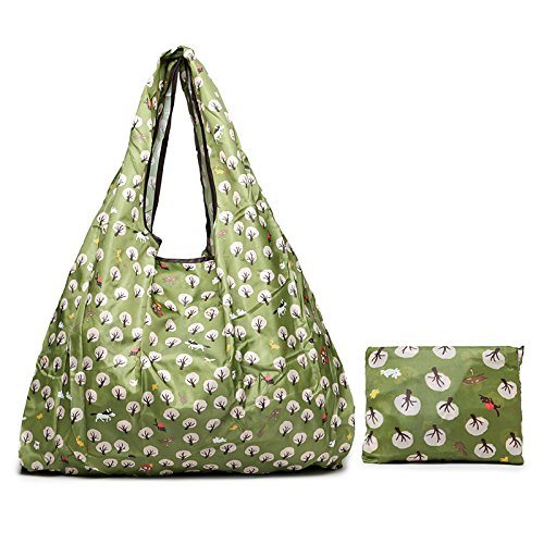 Polyester Reusable Grocery Bags Tote Foldable Shopping Bag