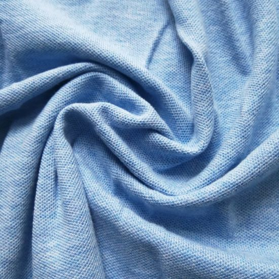 Knitting Melange Color Pique Knitting Textile for Polo Shirt Textile