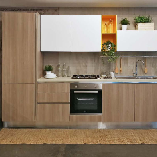 Wholesale Prefab Affordable Modern Small Kitchen Cabinet