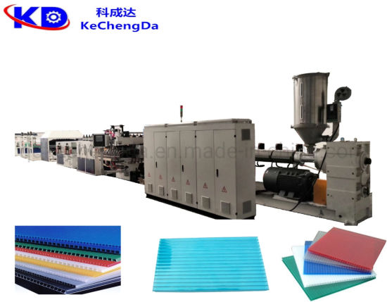 Plastic Hollow Sheet Recycling Making Extruder Machine for Building Construction Template