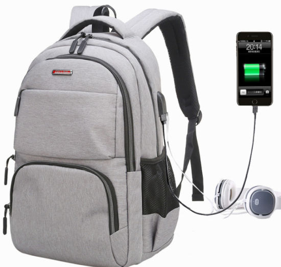 Four Colors Fashion Backpack USB Charging Port Bag Leisure Laptopbag