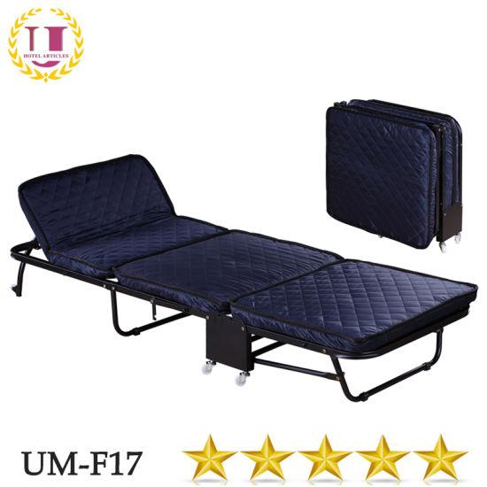 China Three Folding Travel Bed With Foam Mattress China Folding
