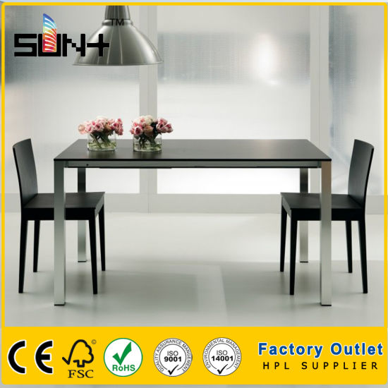Sgs Qualified Home Furniture Formica Hpl Dining Table