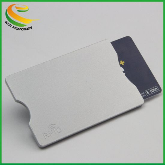 Anti Skimming ABS RFID Blocking Card Sleeve for Credit Card Protection pictures & photos