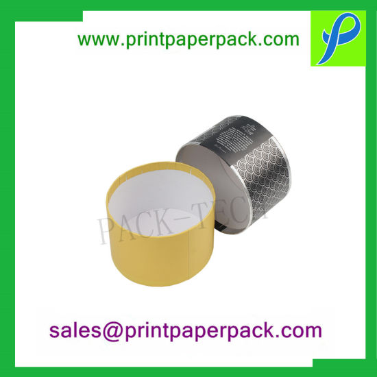 Custom Logo High-End Luxury Cardboard Paper Gift Box Cylinder Candle Box Packaging