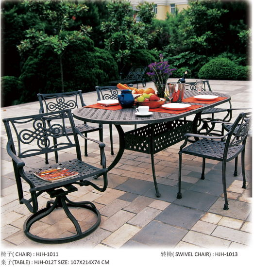 China Modern Cast Aluminum Patio Dining Table Outdoor