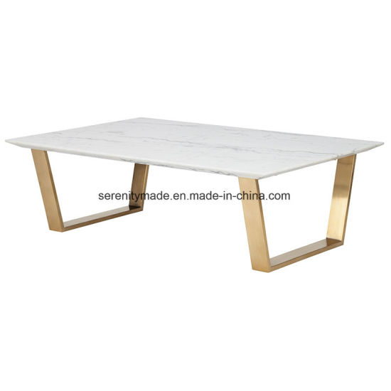 China Stainless Steel Gold Legs Square Marble Wood Dining Table