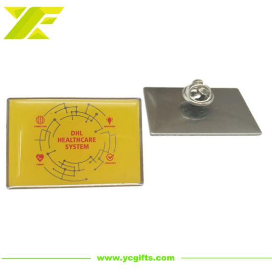Professional Custom Offset Printing Gradual Ramp Lapel Pins Company Label Souvenir Decoration Accessories Epoxy Metal Pin Badge with Design Logo (BD05-C)